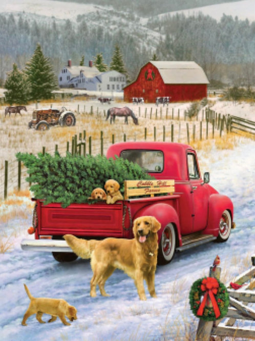 Red Truck Farm Tray Puzzle (35pcs)