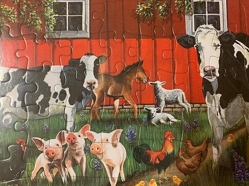 Barn Yard Animals 35 piece tray puzzle