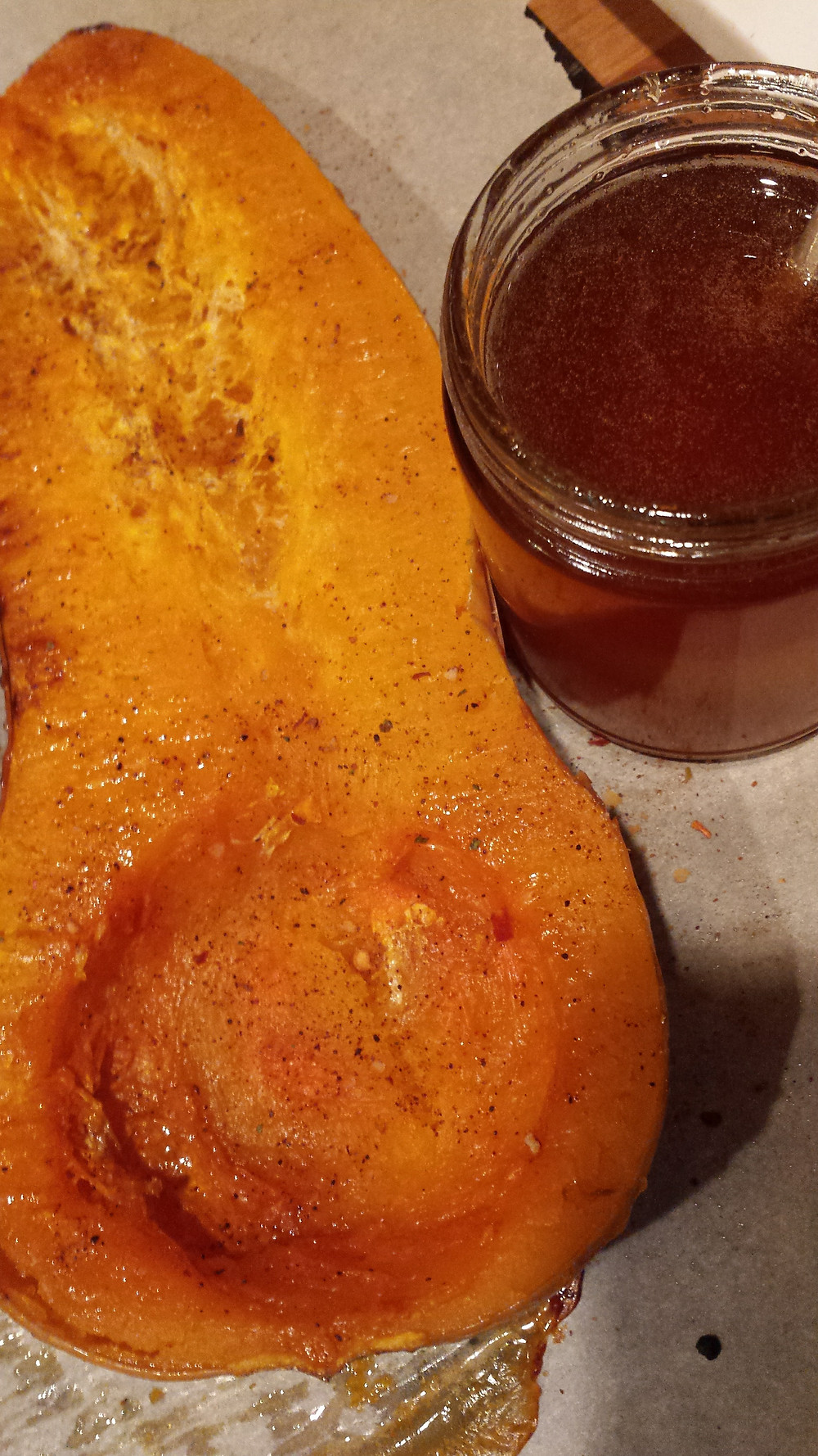 Butternut Squash and Calabrian Chile Honey
