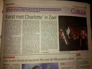 Mooi artikel over ons concert in Zael: Kerst met Charlotte en Jeroen Sarphati