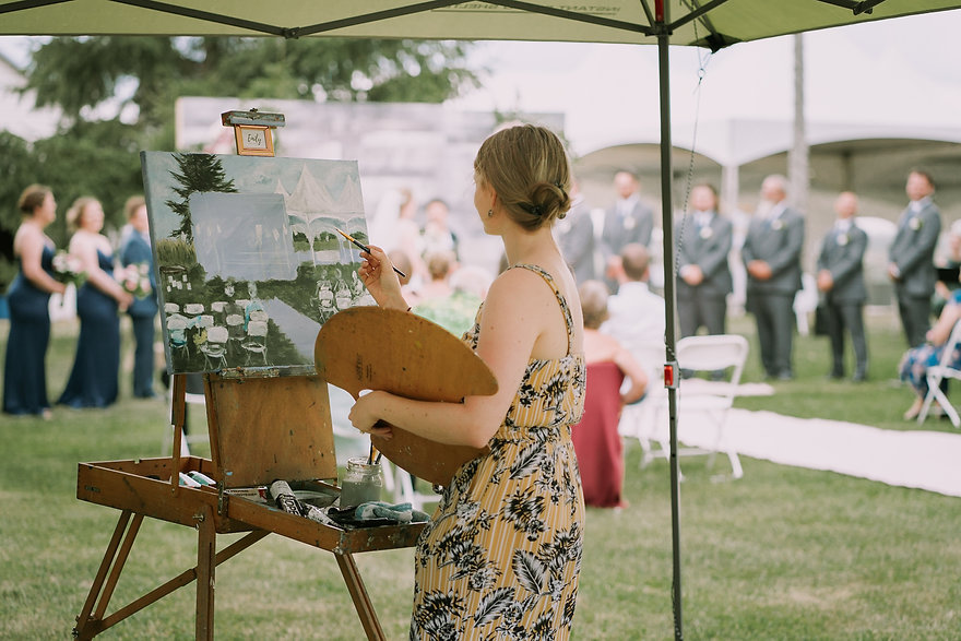 live wedding painter