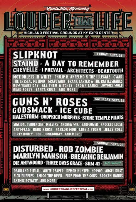 Louder Than Life 2019 - Sept 27-29 @ Highland Festival Grounds at KY Expo Center