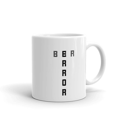 Dataviztypography - Error Bar (monochrome) - Mug