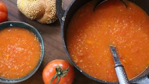 מרק עגבניות טבעוני ומהיר הכנה