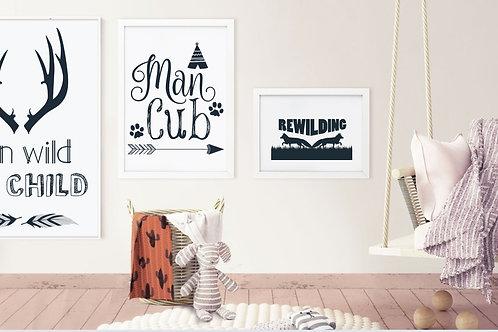Man Cub Wall Art - Roccoco Home