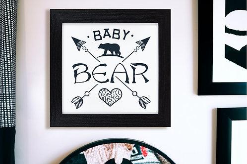 Baby Bear Wall Art - Roccoco