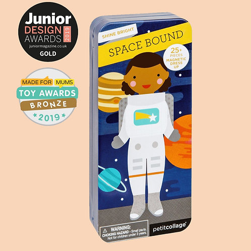 Petit Collage Space Bound Magnetic Dress Up - Grumpy Kid