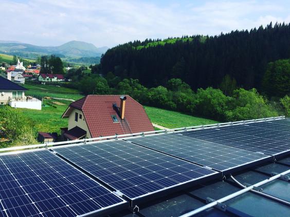 Fotovoltaika falcovany plech