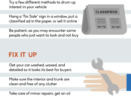 Tips for selling your can on your own - Infographic