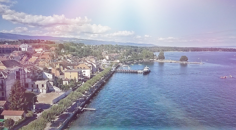 Bord du lac quartier de Rive, Nyon