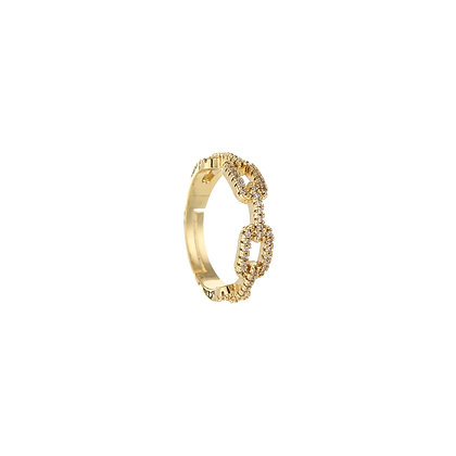 Chain Strass Ring