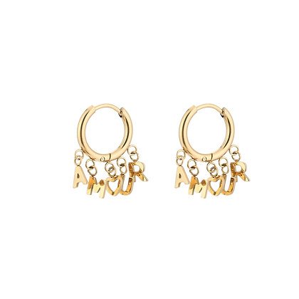 Amour Earrings Gold