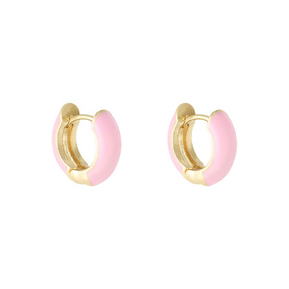 Colorpop Earrings Pink/Gold
