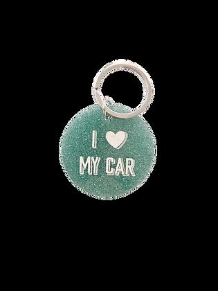 I Love My Car Keychain