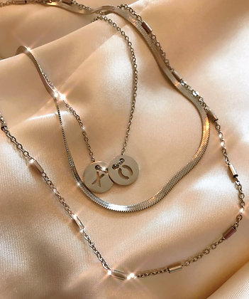 Rocky Rosa - Tube Necklace Steel