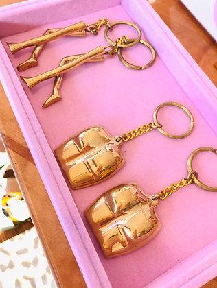 Bum Keychain Brass