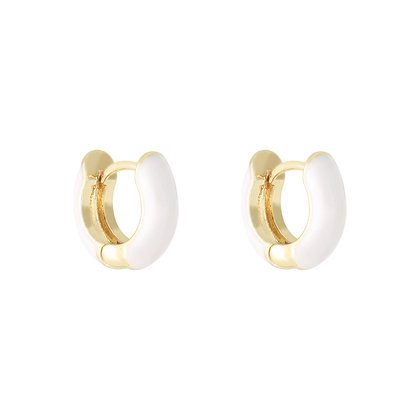 Colorpop Earrings White/Gold
