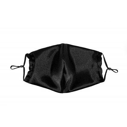 Beauty Pillow - Satin Face Mask Black