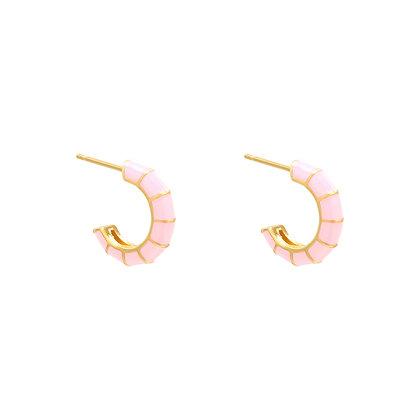 Colorwrap Earrings Pink/Gold