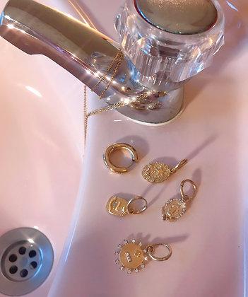 One Piece Earrings Stras Gold