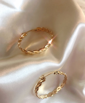Braided Hoops Gold