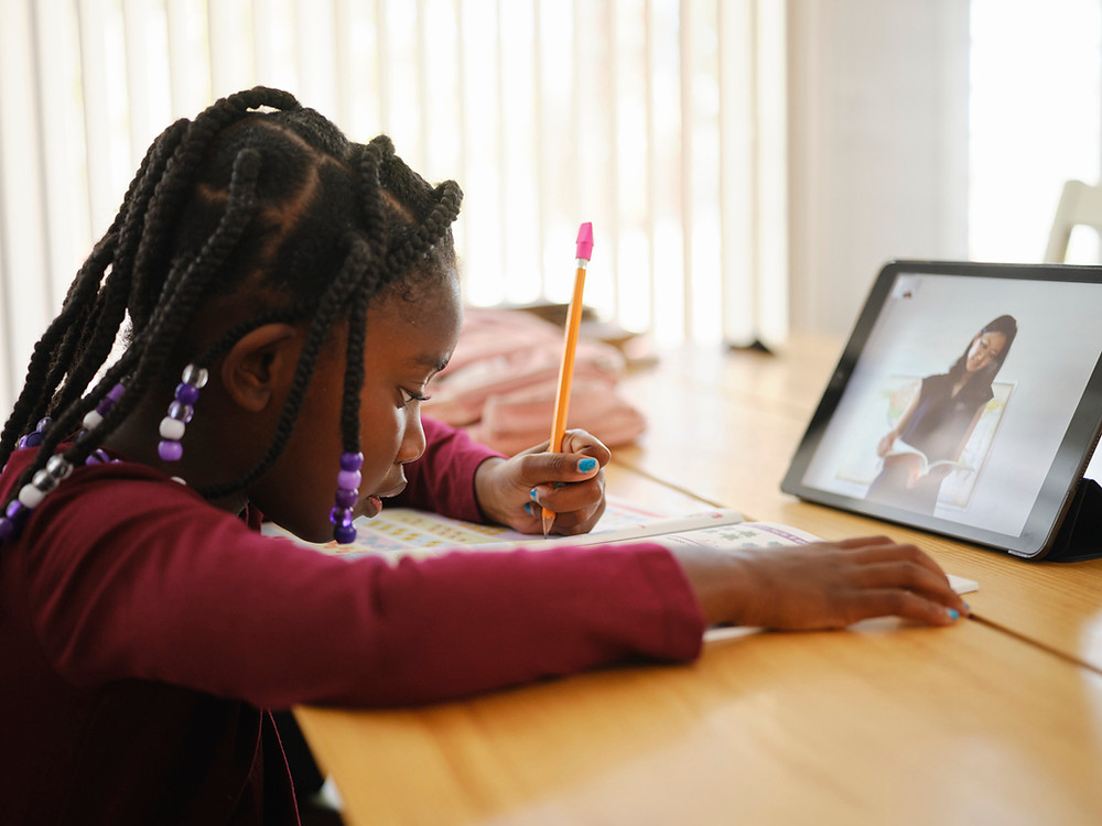 school child remote learning