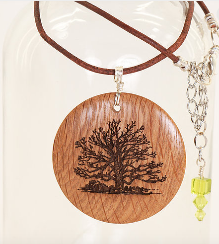 Engraved Pendant Necklace