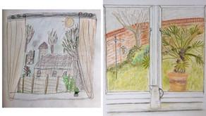 Sketch Club (Week 39) - View from my window