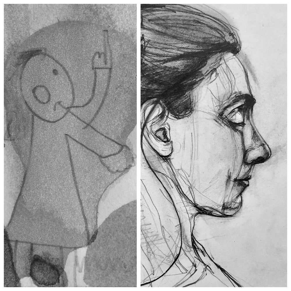 before after drawing