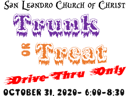 Touchless Trunk or Treat