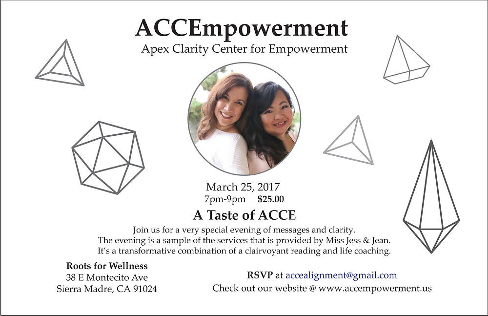 Come Join us for a Taste of ACCE
