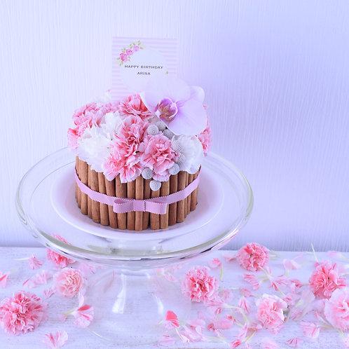 フラワーケーキS(ピンク/イエロー)