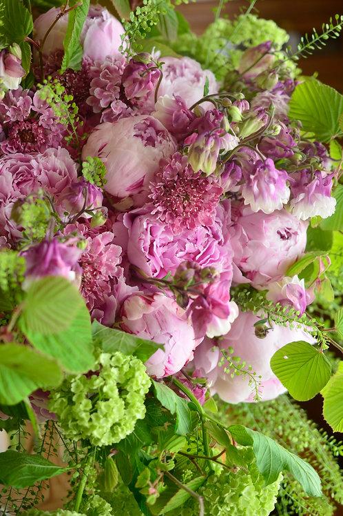 シャクヤク(サラベルナール)の花束