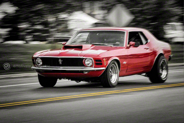 Raging Red Mustang