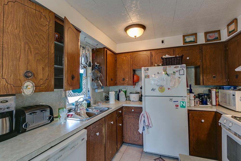 Cluttered kitchen!