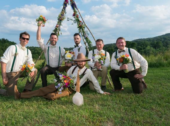 summer teepee wedding