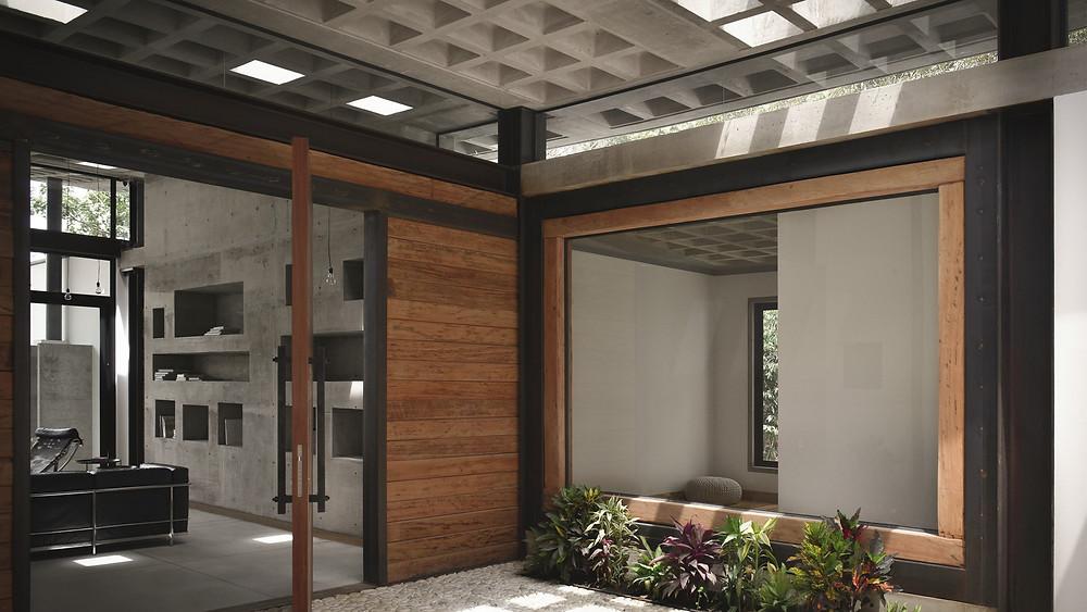 Casa 1.0 una arquitectura terapéutica, donde cada elemento tectónico se muestra en su forma más natural.