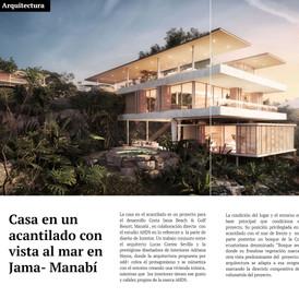 BR Magazine, Edición 73, presentando nuestra Casa en un acantilado
