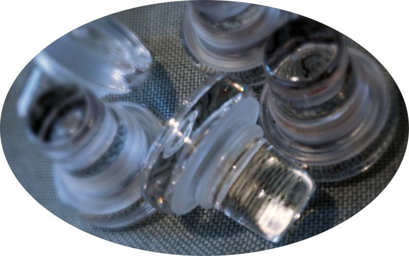Glaskorken oder Glasstopfen für Wein