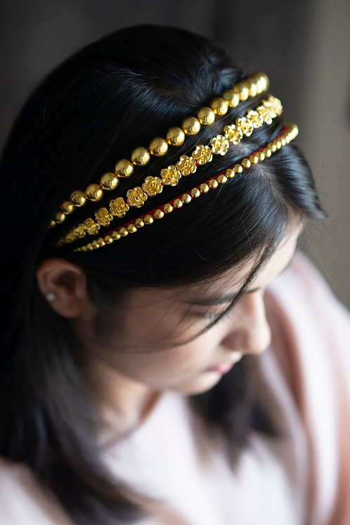 Royal Circlets Pearl and Rose Headband Set