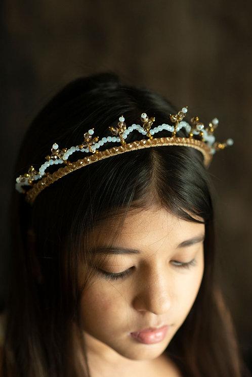 Amber Coronet Crystal Headband