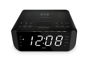 FM Alarm Clock Radio with Wireless Charging