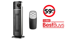 2000W Ceramic Tower Heater on sale at Coles Best Buys