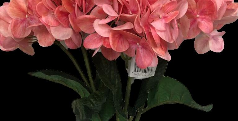 Hortensia en ramo Natural Touch 60cm, 5 flores