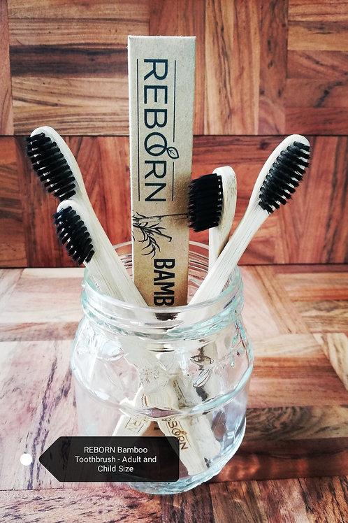 REBORN Bamboo Family Toothbrush 4 Pack