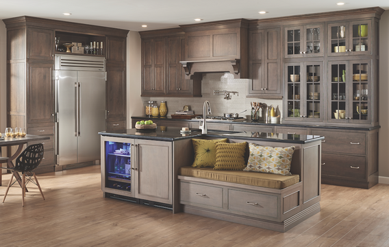 Fieldstone Inset Slate & Driftwood Kitchen