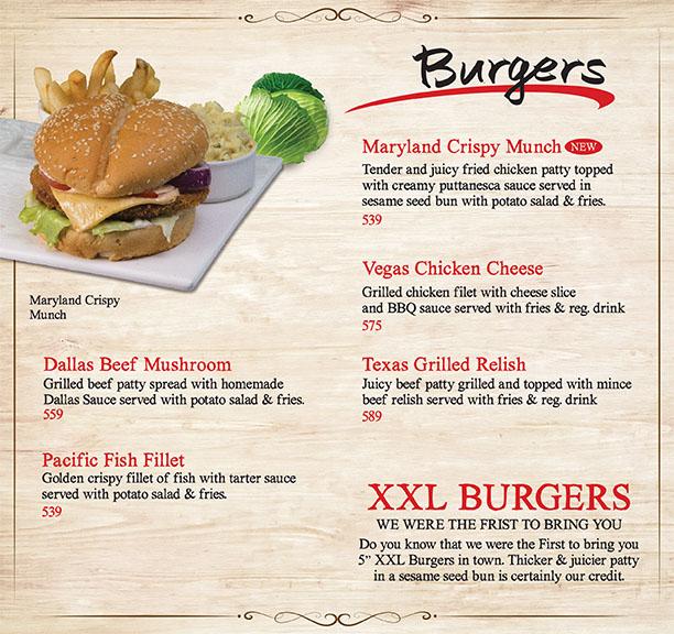 Burgers Range