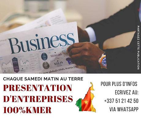 PRÉSENTATION D'ENTREPRISES 100% KMER