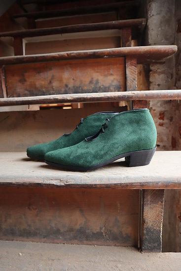 Emerald Green Cowboy Bootie