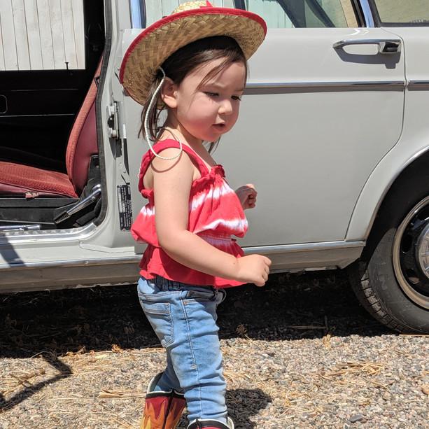 Kids Cowboy Flame Boots